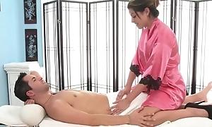 Massage mollycoddle customer blowjob