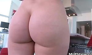 Cute blonde milf loves having hard sex