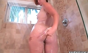 Hawt redhead babe gets horny rubbing say no to