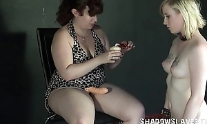 Flaxen-haired Satine Spark in bizarre lesbian humiliation and vituperative obedience