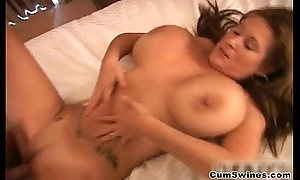 The man brunette whore acquires her cunt