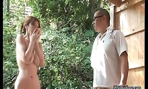 Sexy oriental slut receives horny rubbing her