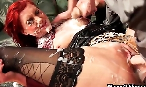 Simmering redhead babe getting say no to cum-hole