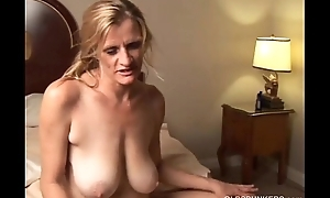 Slutty mature trailer trash can't live without round fuck