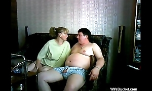 mature wife gives a funny blowjob
