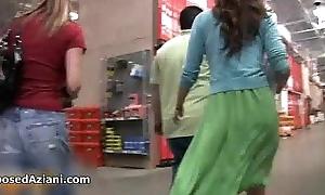 Crestfallen brunette babe goes crazy flashing