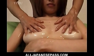 Gaffer Aya Kurosaki enjoys her council being oiled up