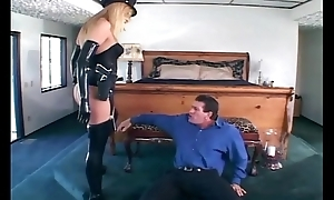 Female office-holder fucking about gloves and stockings