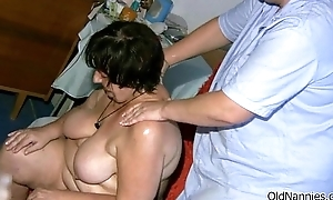 Dirty old woman gets horny getting her