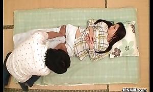 Cute Japanese milf acquires a sensual