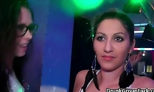 Nasty harlots get horny making out