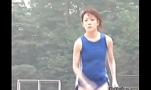 XXX Japanese teen athletes doing nude