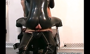 Filthy and kinky latex bawd getting