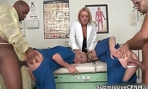 Hot blond doctor acquires her sweet pussy