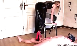 Blonde Mistress Rubber Tease