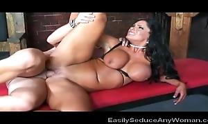 Big Boobed Brunette Milf In the air Action