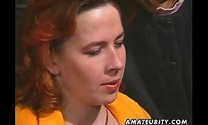 Redhead amateur Milf sucks and fucks with facial cumshot