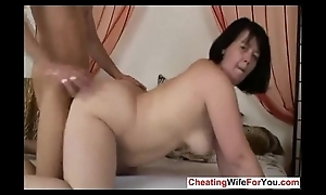 Fat cougar can't live without to swallow