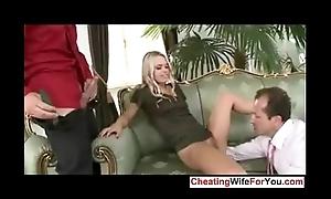 Slutty wife fucked in the ass away from yoke man