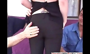 Hot wife get two big dicks