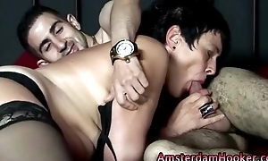 Mature real dutch hooker sucks tourist