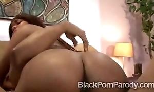 Gorgeous body dark-skinned rides black meat steppe porn parody