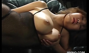 Heavy tits Asian babe toy inserting