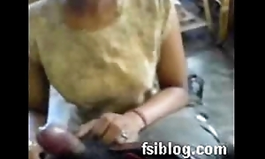 Indian Maid servicing her house polished