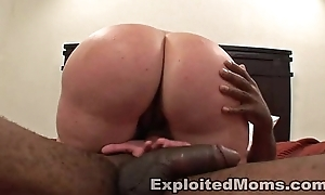 Lonely Cheating wife decides to cheat and get a Obese Black Cock forth Interracial Videotape
