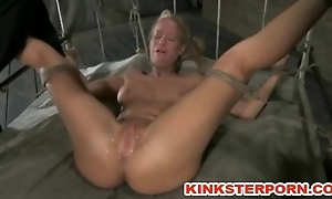 S&m Deep Throated, Nipple Abused, Tight Rope Bondage with an increment of Femdom Fisting