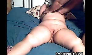 Obese unskilled Milf toyed together with blowjob with facial cumshot