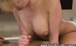 Blonde nasty babe gives hot massage