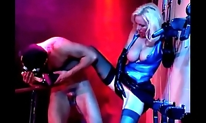 Beautiful Blonde apropos Latex, Fucked Hard and Sucks Big Cock, Helen Duval.