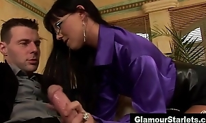 Naughty glamorous slut in spex