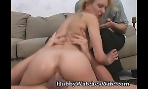 Hubby Watches Become man Acquire Banged