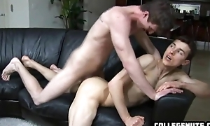 Sexy dude wtih a ripped piecing together and a tight as gets nailed