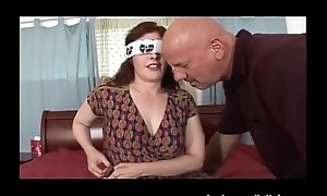 Blindfolded Floosie Tie the knot with Big Bowels Interracial DP