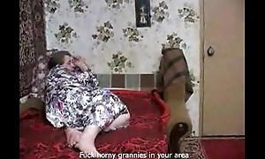 Russian Granny Needs Big Youthful Scantling