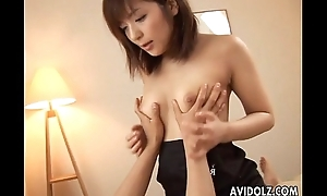 Dropped Asian hottie blowjob with an increment of hardcore sex