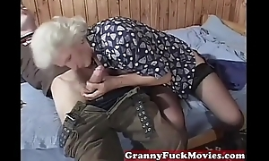 Grandma eager for younger dicks