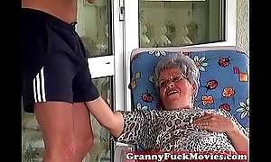 Granny Night before engulfing hard young dick