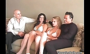 Foursome group sex there two sexy appealing
