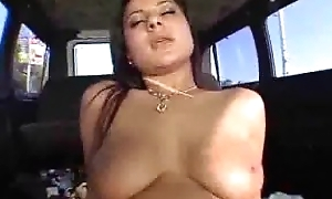Latina rides weasel words in the bangbus
