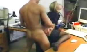 TIGHT Blonde secretery gets double fucked at the office
