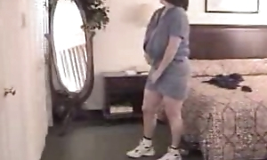 Mature women changing raiment