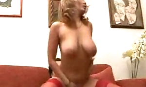 Italian MILF gets showered with cum first of all her hot tits