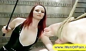 female dom anal probe, tied man extreme leather rapped sex