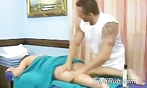 Aussie Masseur rubs Cindy's ass buy submission