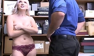 Naughty light-complexioned girl with big natural tits forced in fuck in the place