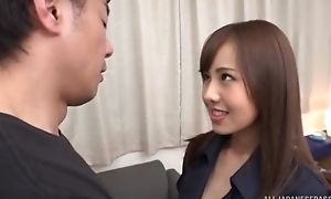 Slim Asian babe with huge sexual appetite gets eaten widely coupled with deeply fucked